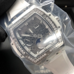 Hublot/宇舶 Spirit of Big Bang Moonphare 鈦金屬 42MM 藍玻璃面 機械自動  647.NE.2070.RW.1204