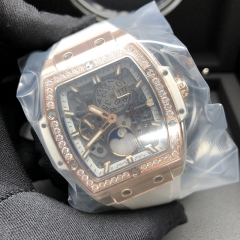 Hublot/宇舶 Spirit of Big Bang Moonphare 玫瑰金 42MM 藍玻璃面 機械自動  647.OE.2080.RW.1204